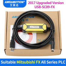 FreeShipping USB-SC09-FX For Mitsubishi PLC Programming Cable FX0N FX1N FX2N FX0S FX1S FX3U FX3G Series Communication Cable fx3u 64mr es a mit melsec plc programmable logic controller fx3u 64mr es a