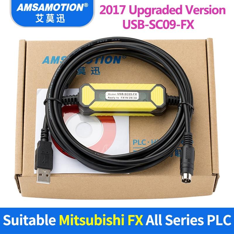 FreeShipping USB-SC09-FX Suitable Mitsubishi PLC Programming Cable FX0N FX1N FX2N FX0S FX1S FX3U FX3G Series Communication Cable цена
