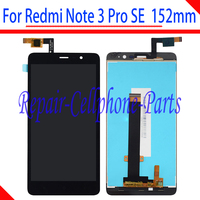 Black 5.5 inch Full LCD display + Touch Screen digitizer assembly For Xiaomi Redmi Note 3 Pro SE Global Version 152 mm