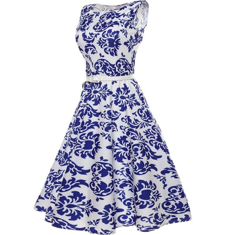 Կանացի կապույտ և սպիտակ ճենապակյա - Կանացի հագուստ - Լուսանկար 2