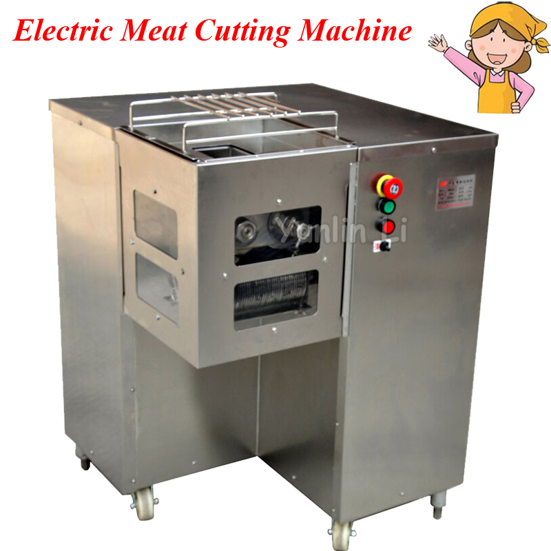 Commericail Meat Cutting Machine 800KG/HR Meat Slicer Dicing Equipment for Restaurant Hotel Color Black/Blue QSJ-B
