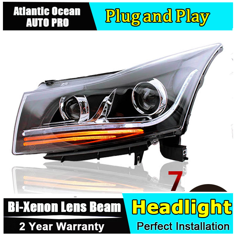 Auto Lighting Style LED Head Lamp for Cruze led headlights 2009-2014 signal tube led drl HID KIT Bi-Xenon Lens low beam auto clud style led head lamp for benz w163 ml320 ml280 ml350 ml430 led headlights signal led drl hid bi xenon lens low beam