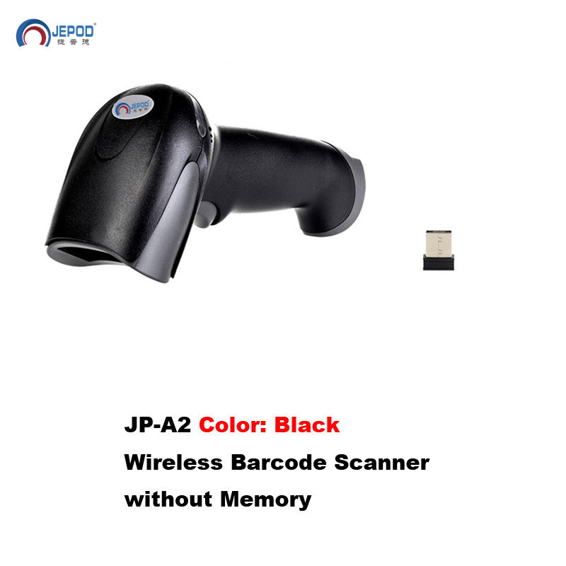 JP-A2 Free Shipping Wireless Barcode Scanner wireless laser barcode reader scanner USB handheld wireless barcode reader(Hong Kong,China)
