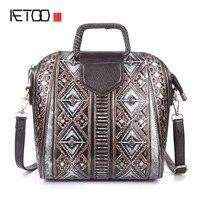 De nieuwe borstel kleur lederen handtassen reliëf bloemen temperament fashion leisure tas handtas