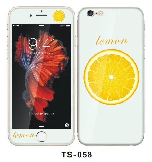 466028e2d6d Moda naranja Lemon borde curvado película de vidrio templado protector de  pantalla + funda para iPhone 7 caso 6 s 6 Más 7 más