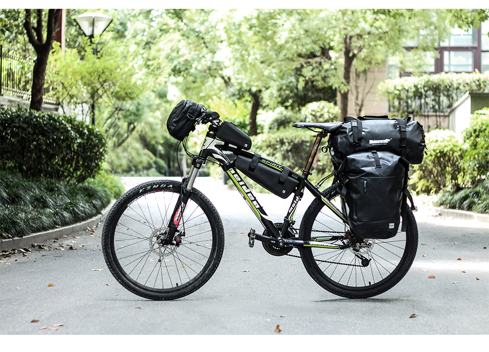 Rhinowalk Bicycle Luggage Bags 20L Full Waterproof for Road Bike Rear Rack Trunk Cycling Saddle Storage Pannier Multi Travel Bag (10)