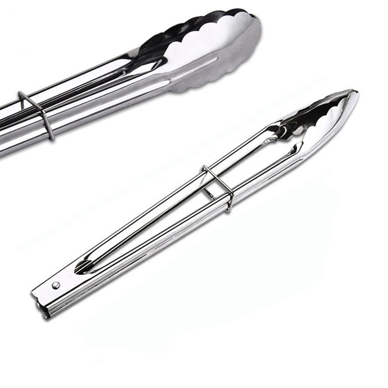 7 inch stainless steel kitchen tool set bread tongs salad for Kitchen set 7 in 1
