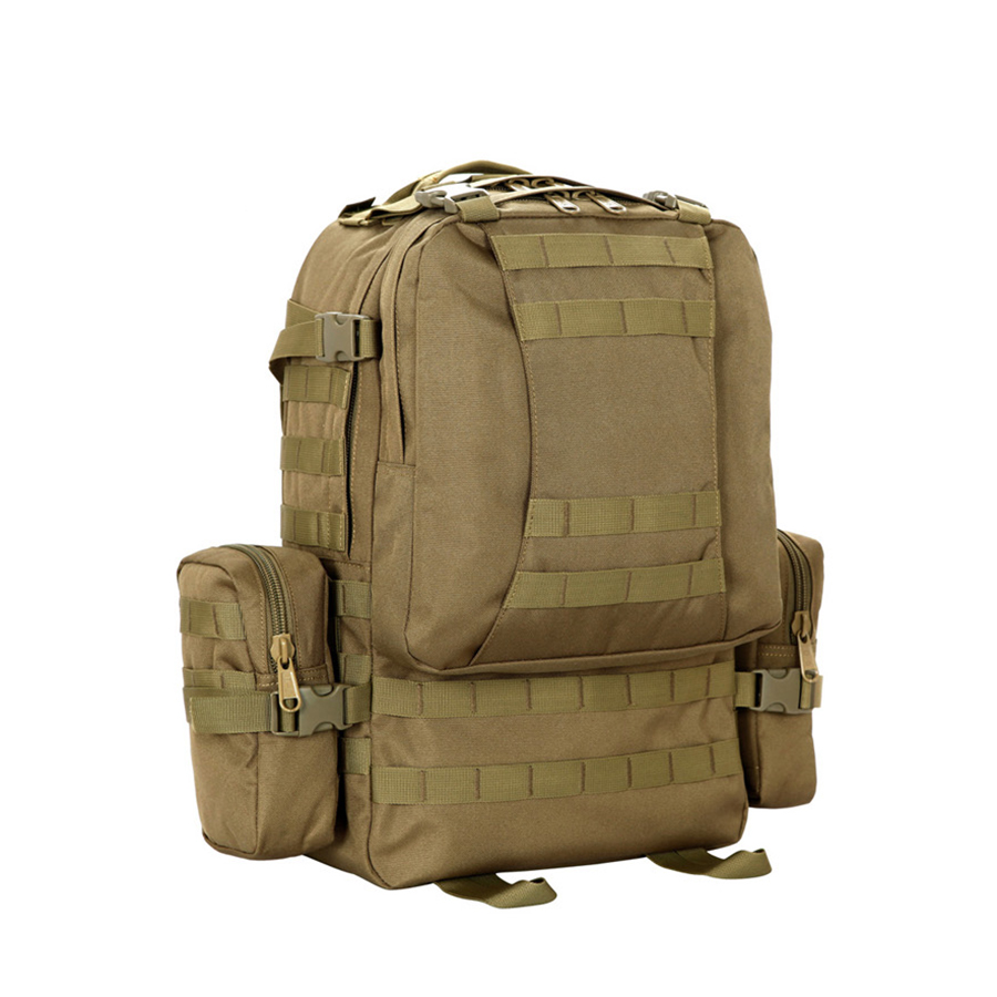 Outdoor Large Capacity 50L Tactical Backpacks Combination Sports Bag Rucksack Molle Military Hiking Climbing 1 Backpack 2 Small