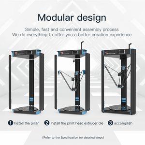 Image 3 - ANYCUBIC 3D Stampante Predator di Grandi Dimensioni Più Il Formato Full Metal Schermo TFT 3d Ad Alta Precisione in 3D Drucker Impresora 370*370*455 millimetri