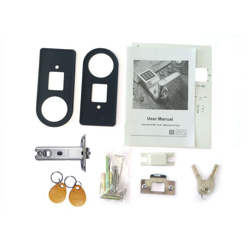 Купить с кэшбэком LACHCO Keyless Digital Lock Keypad Password Code Spring Bolt Access Electronic Door Locks L16086BS