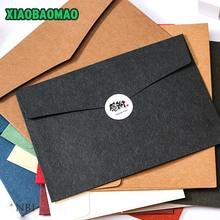 Dikte 230*163mm 20 stks/partij Kleur Westerse stijl A5 blank rekeningen ontvangen envelop venster envelop