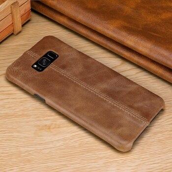 Solque Casos De Couro Genuíno Para Samsung Galaxy S8 Plus S9 S10 Lite Celular Telefone Luxury Vintage Matte Duro Ultra Fino caso capa