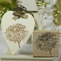 Highquality Daisy Stamp 5 5 2cm Scrapbooking Stamp Silicone Carimbos Wooden Scrapbooking Rubber Stamps Carimbo Diy