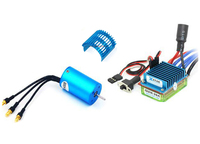 1set Wltoys A949/959/969/979 Brushless 2440 Motor +30A ESC Huaiqi 734 Upgraded Universal Kits With Heat Sink For RC Car Parts
