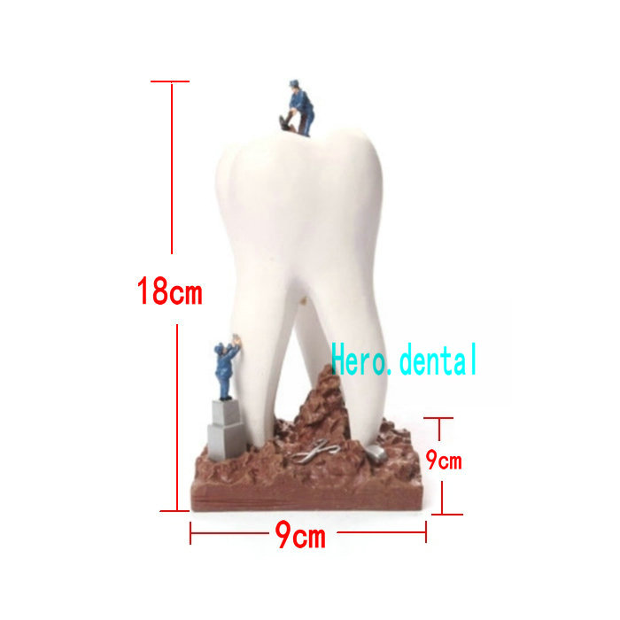 Dentiste Cadeau Résine Artisanat Jouets Dentaire Artware Dents Artisanat Clinique Dentaire Décoration Articles D'ameublement Creative Sculpture