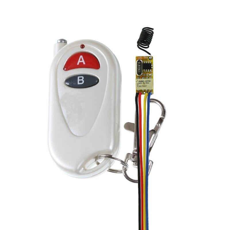 Smart Remote Control Switch 3.7V 4.5V 5V 6V 9V 12V Relay Contact Wireless Switch Learning ASK Portable LED Remote Lighting 50PCS