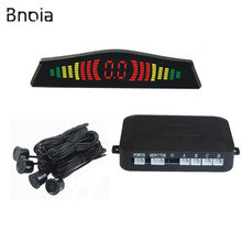 Car LED Parking Sensor With 4 Sensors Reverse Backup Car Parking Radar Monitor Detector System Backlight Display C004P