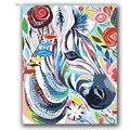 Bunte Kuh abstrakte malerei durch zahlen auf leinwand tiere zeichnung für färbung mit farbe paket hoom decor-in Malerei und Kalligraphie aus Heim und Garten bei