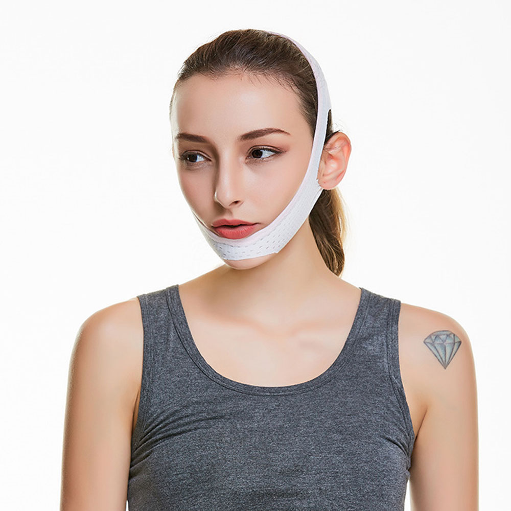 1Pcs V Line Facial Mask Chin Neck Belt Sheet Anti Aging Face Lift Up Chin Cheek Slim Lift Up Anti Wrinkle Mask 4