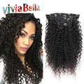 """Afro Kinky Clip Ins Clip In Human Hair Extensions 10""""-26"""" Kinky Curly Clip In Hair Extensions Human Hair Kinky Curly Clip Ins"""