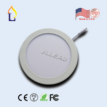 """US stock cut-size diameter 6.102"""" 12W 8.071"""" 18W led panel down light ceiling down lamp ultra-thin round type AC 85-265V 20 Pack"""