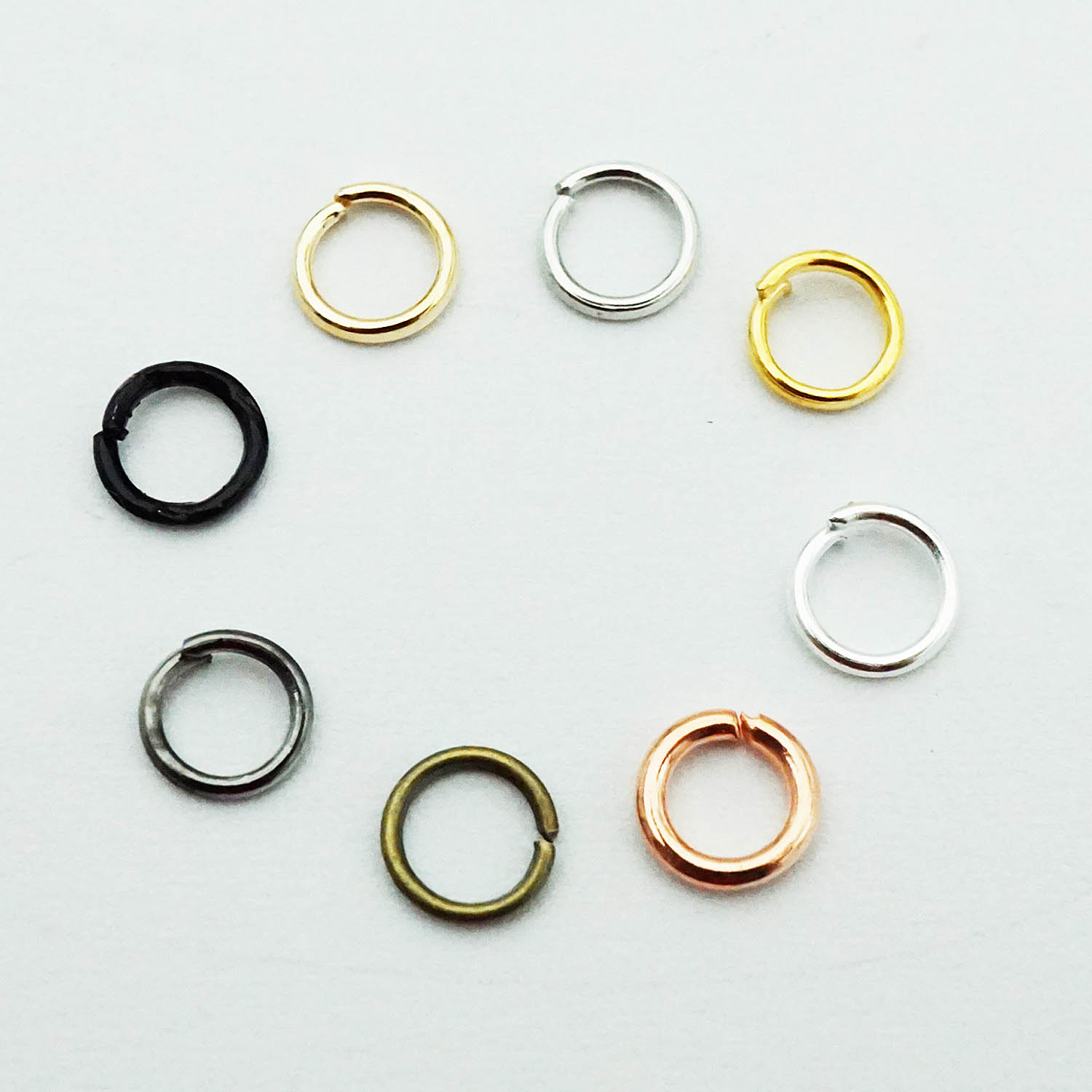300Pcs/lot Silver/kc Gold/black/Bronze/Gold Open Circle Jump Rings Open Single Loop For DIY Necklace Bracelet Jewelry Making
