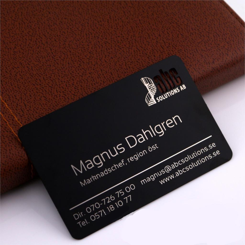 Sample fee for Stainless steel Metal Business Card per design design fee for plastic bag usd50