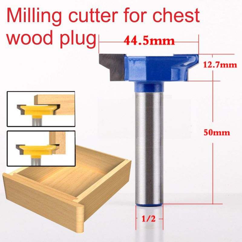 1/2*44.5mm milling cutter for drawer wood plug wood Milling Cutter 1 2 2 50 8mm milling cutter for drawer wood plug wood milling cutter