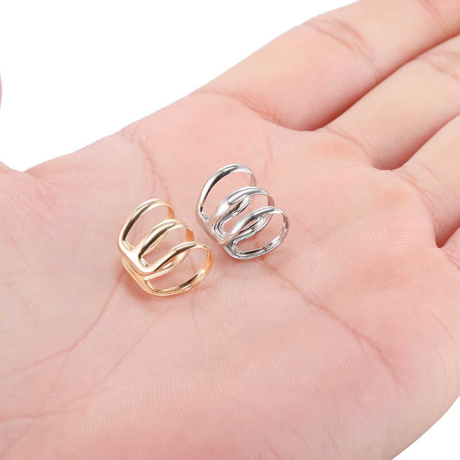 1 ADET Çelik Sahte Piercing Sahte Küpe Kulak Kıkırdak-On Hoop Helix Piercing Olmayan Deldi Kapatma yüzük Vücut Piercing