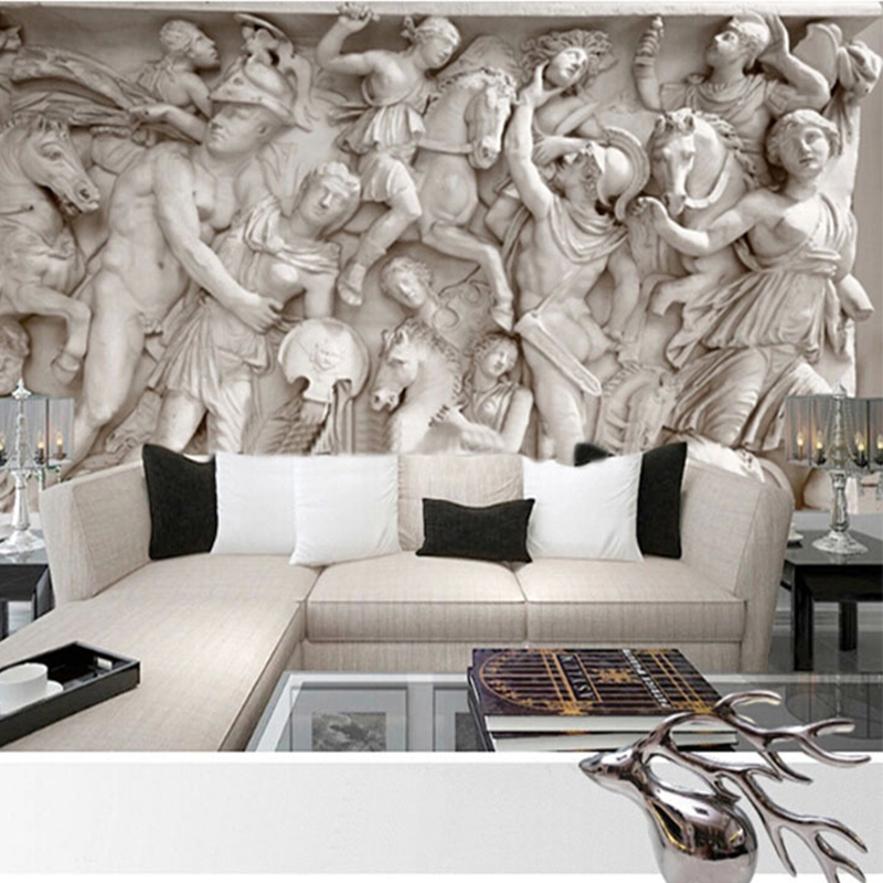 High Quality Modern 3D Stereo Photo Wallpapers Roll European Papel De Parede Living Room Sofa Wall Covering Murales De Pared 3D