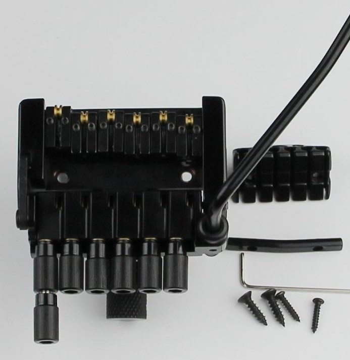 new arrived headless electric guitar bridge in black W-1003 black bridge