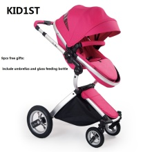 Luxury Baby Stroller Fashionable Germany Design Pram Portable Folding Carts Suit for Seating and Lying