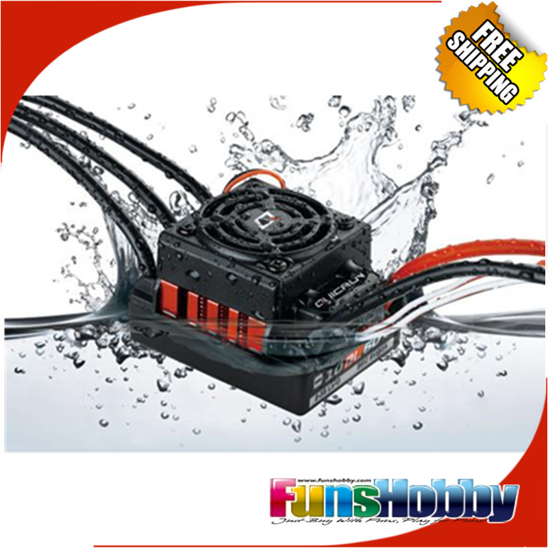 HobbyWing QuicRun WP 10BL60 Brushless Waterproof 60A ESC For 1/10 RC Car Buggy Truck Monster Truggy Rock Crawler RC4WD AXIAL hobbywing quicrun wp 16bl30 hobbywing quicrun 30110000 brushless waterproof 30a sensorless esc wp 16bl30 for 1 16