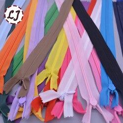 Высокое качество 6 шт./лот красочная невидимая молния 25 см задняя подушка юбка скрытая 3 # нейлоновая молния для шитья/аксессуары для одежды ...