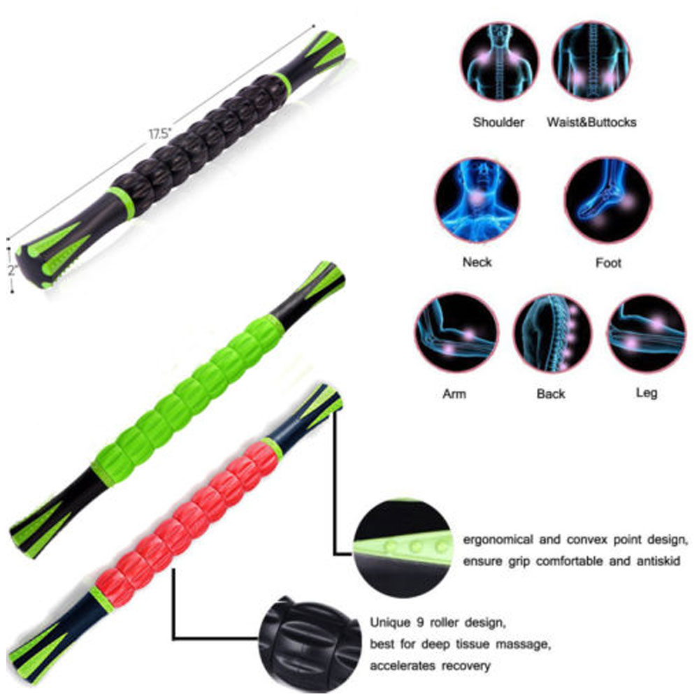 1Pcs Muscle Roller Stick, Massage Tools for Athletes Trainers Physical Therapy Yoga, for Reducing Muscle Soreness 5