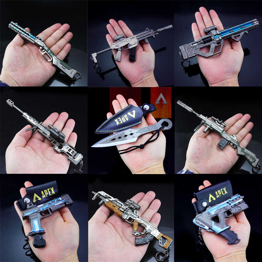 2019 Baru Apex Legenda Permainan Pertempuran Royale Action Figure Gun Model 21 Cm Alloy Apex Legenda Gantungan Kunci
