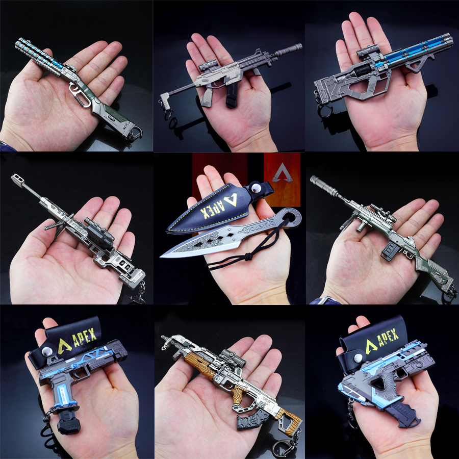 2019 NEW APEX Legends Game Battle Royale Action Figure Gun Model 21CM Alloy  APEX Legends Keychain