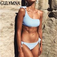 GULYMNA 2019 Summer Striped Brazilian Bikini Push Up Sexy Swimwear Women Low Waist Maillot De Bain Femme Costumi Da Bagno Donna