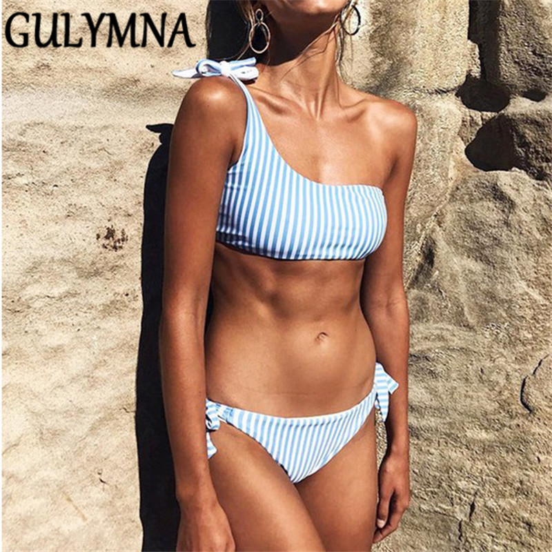 GULYMNA <font><b>2019</b></font> Summer Striped Brazilian Bikini Push Up <font><b>Sexy</b></font> Swimwear Women Low Waist <font><b>Maillot</b></font> <font><b>De</b></font> <font><b>Bain</b></font> Femme <font><b>Costumi</b></font> <font><b>Da</b></font> <font><b>Bagno</b></font> <font><b>Donna</b></font> image