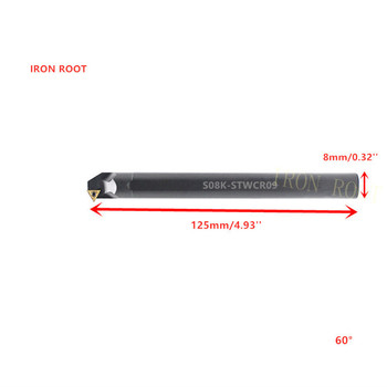 S08K/S10K-STWCR09/STWCL09 CNC torno interno herramienta de torneado Barra de perforación para inserción TCMT09