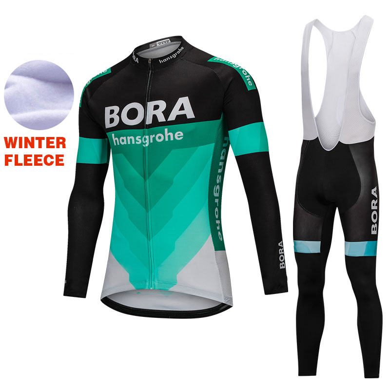 2018 UCI team men's winter thermal fleece cycling jersey kit ropa ciclismo invierno bicycle clothing cycle bib pants set fualrny winter thermal fleece cycling jersey 2018 pro team ropa ciclismo hombre invierno men cycling clothing mtb bike clothes