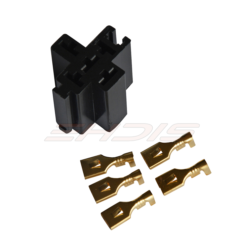 5Pcs 30A 40A 5 Pin Car Relay Connector Socket with 5 Terminals