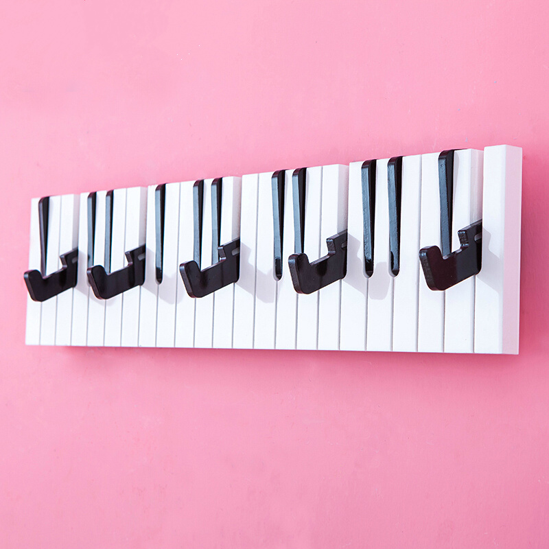 Hooks & Rails 2019 Latest Design Wooden Wall Key Hanger Piano Music Clamps Clips Coat Hat Hanging Hooks Bag Holder Purse Storage Hook Sheves Art Home Decoration