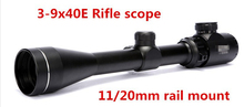 Wholesale prices 3-9x40E Tactical R&G Illumination Riflescope / Airsoft Rifle Telescopic Sight Hunting Scope With 11mm / 20mm Free Rail Mounts
