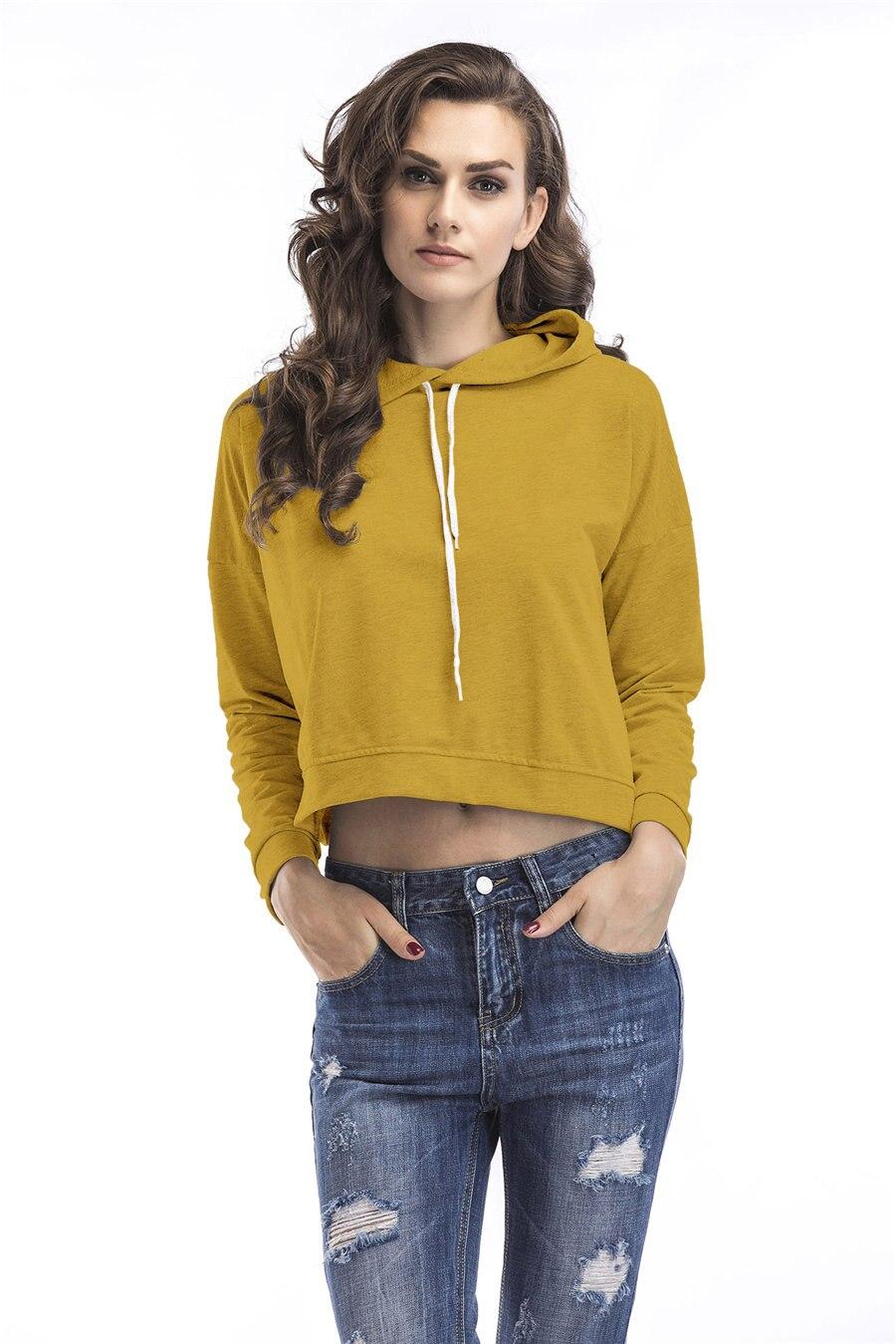 Gladiolus Spring Hooded Hoodies Women Long Sleeve Sexy Crop Top 2019 Short Slim Sweatshirt Women Loose Pullover Tracksuit Tops (9)