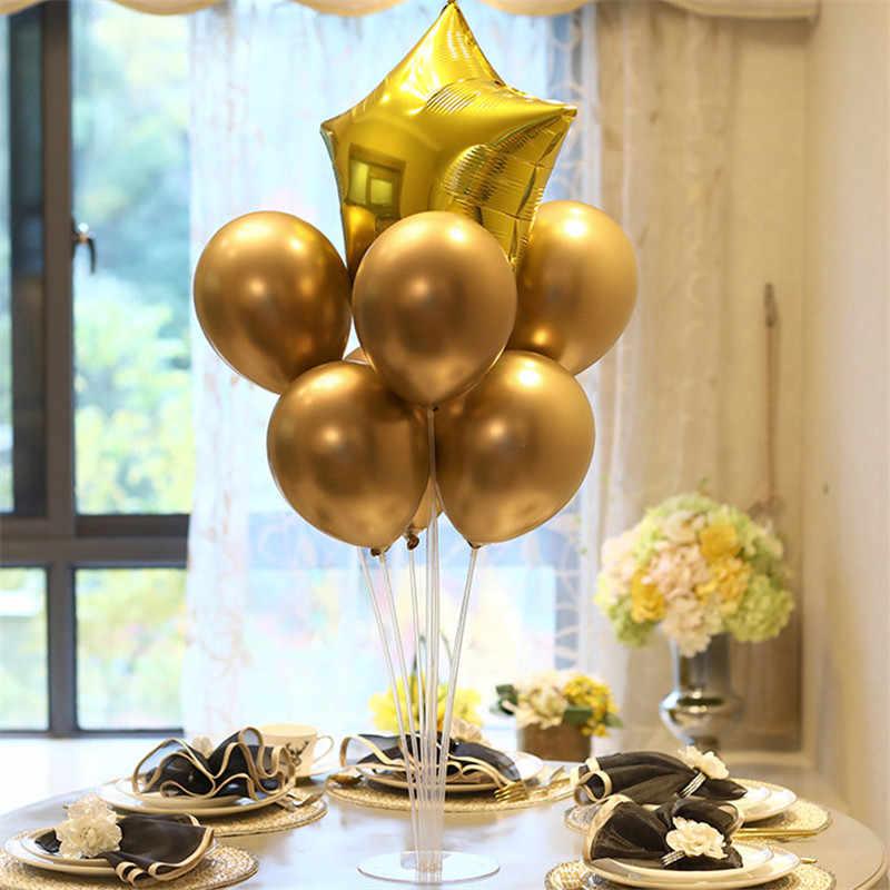 Doğum günü partisi balonlar standı balon tutucu sütun plastik sopa balonlar doğum günü partisi süslemeleri çocuklar yetişkin düğün balon