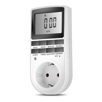 New EU Plug Portátil Plug-in Timer Digital 24 h Semana sete dias com Display LCD para o Aparelho Interior Luzes/Plug TV 24 Horas Temporizador Swi