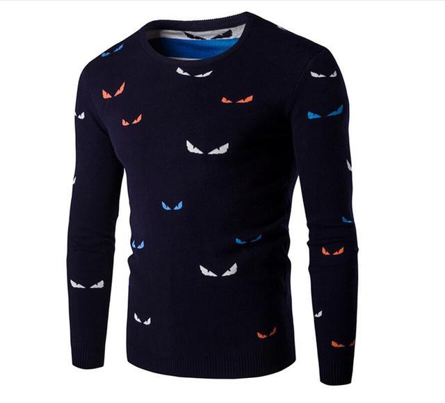 Bordado de Color de cuello alto suéter delgado de Los Hombres suéter de la nueva llegada mejor calidad