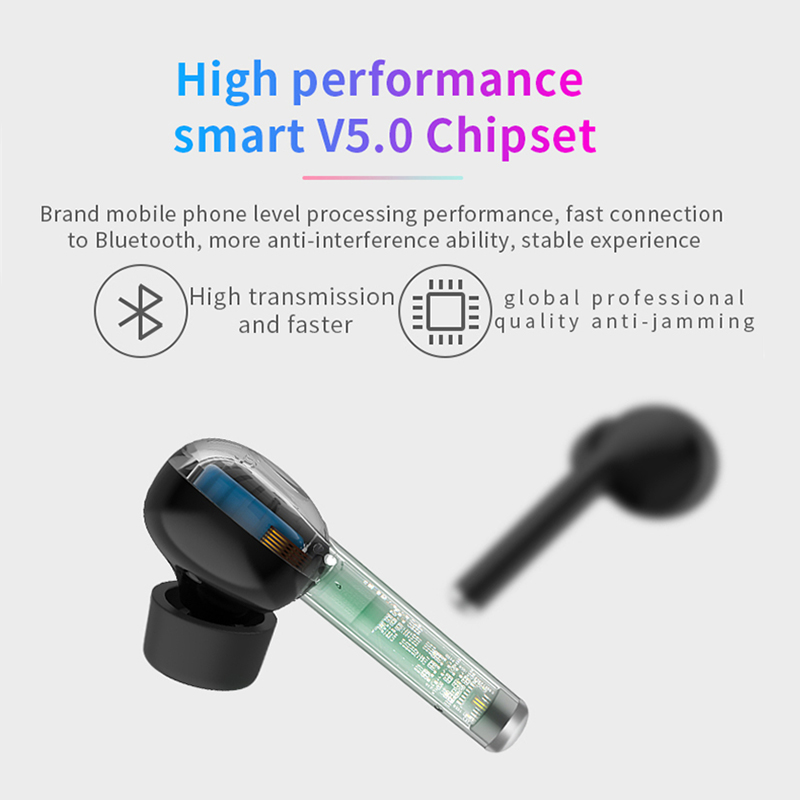 Image 3 - TW40 pop up tws Wireless Earphone Bluetooth 5.0 Touch Control Headset Charge Support Handsfree Headphone Stereo Bass With Mic-in Bluetooth Earphones & Headphones from Consumer Electronics