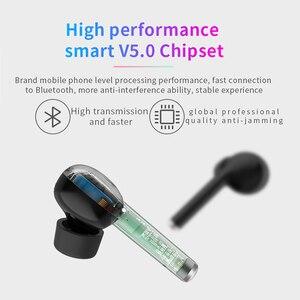 Image 3 - TW40 pop up tws auriculares inalámbricos Bluetooth 5,0 de Control táctil auriculares de soporte de carga manos libres auriculares estéreo bajo con micrófono